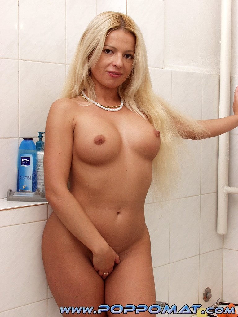 Perfect blonde milf from sweden fucks two dicks